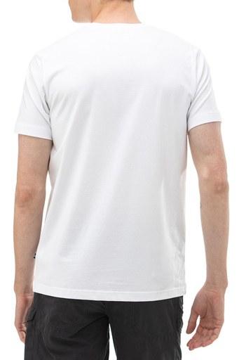 Nautica Bisiklet Yaka Pamuklu Erkek T Shirt V01000T 1BW BEYAZ