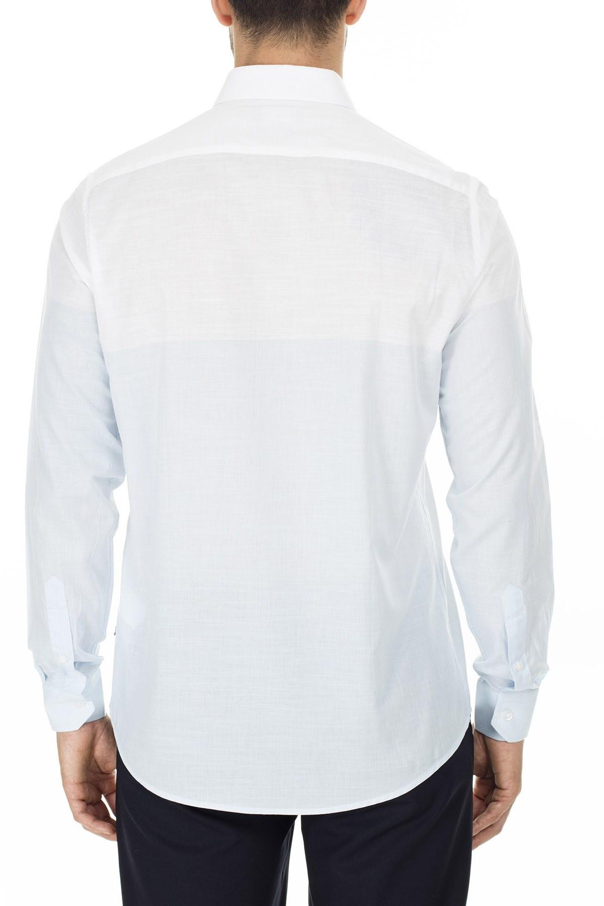 Nautica Düğmeli Yaka % 100 Pamuk Slim Fit Erkek Gömlek W91032T 4FS MAVİ