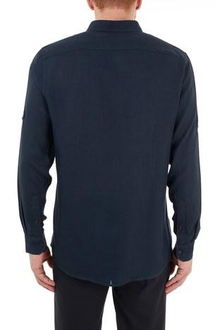 Nautica - Nautica Düğmeli Yaka Uzun Kollu Erkek Gömlek W15606T 4NV LACİVERT (1)