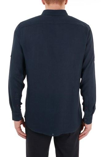 Nautica Düğmeli Yaka Uzun Kollu Erkek Gömlek W15606T 4NV LACİVERT