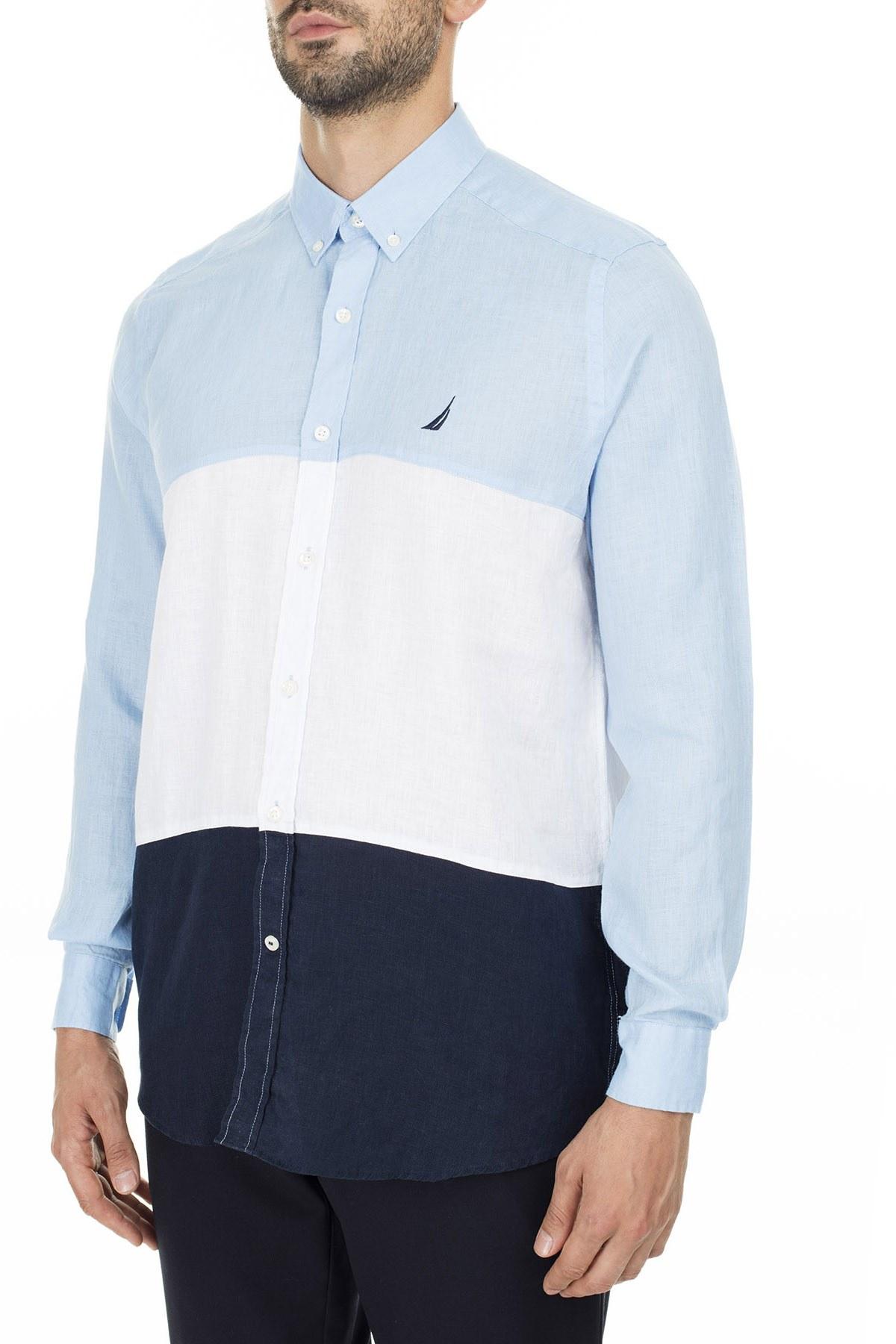 Nautica Erkek Gömlek W01016T 4NN MAVİ