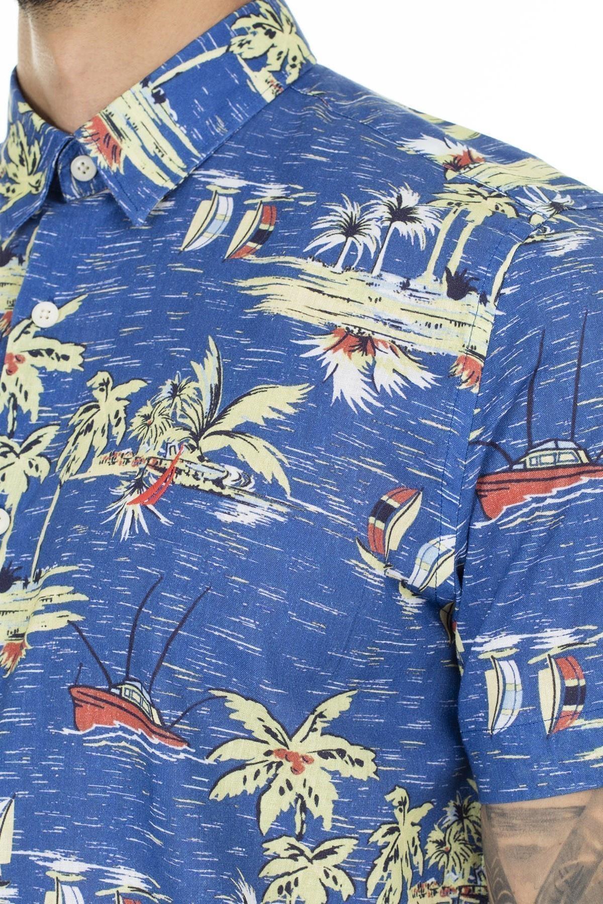 Nautica Erkek Gömlek W01223T 41C MAVİ