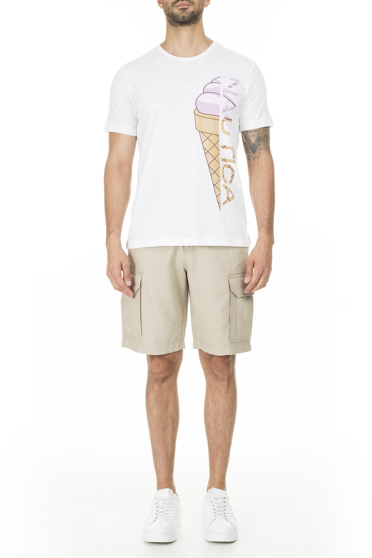 Nautica Erkek T Shirt V01025T 1BW BEYAZ