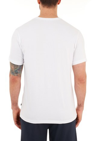 Nautica - Nautica Pamuklu Bisiklet Yaka Erkek T Shirt VC0100T 1BW BEYAZ (1)