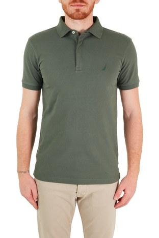 Nautica - Nautica Pamuklu Düğmeli T Shirt Erkek Polo K15635T 3BP YEŞİL
