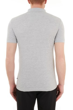 Nautica - Nautica Pamuklu T Shirt Erkek Polo KC0100T 0GH GRİ (1)