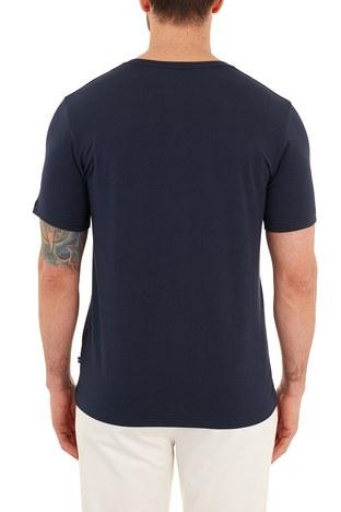 Nautica - Nautica Pamuklu V Yaka Erkek T Shirt V01001T 4NV LACİVERT (1)