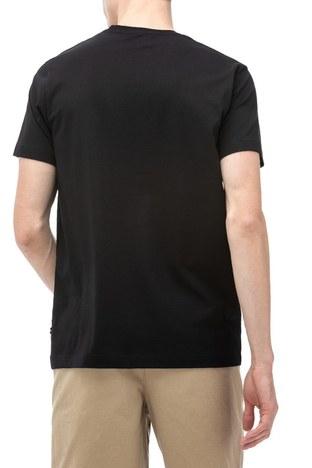 Nautica - Nautica Slim Fit Baskılı Bisiklet Yaka Pamuklu Erkek T Shirt V91016T 0TB SİYAH (1)
