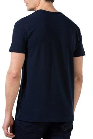 Nautica - Nautica Slim Fit Bisiklet Yaka Pamuklu Erkek T Shirt V01000T 4NV LACİVERT (1)