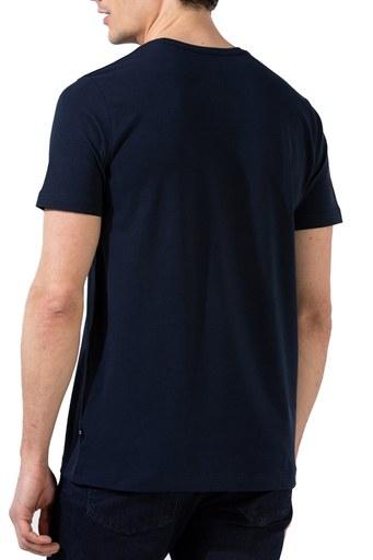 Nautica Slim Fit Bisiklet Yaka Pamuklu Erkek T Shirt V01000T 4NV LACİVERT
