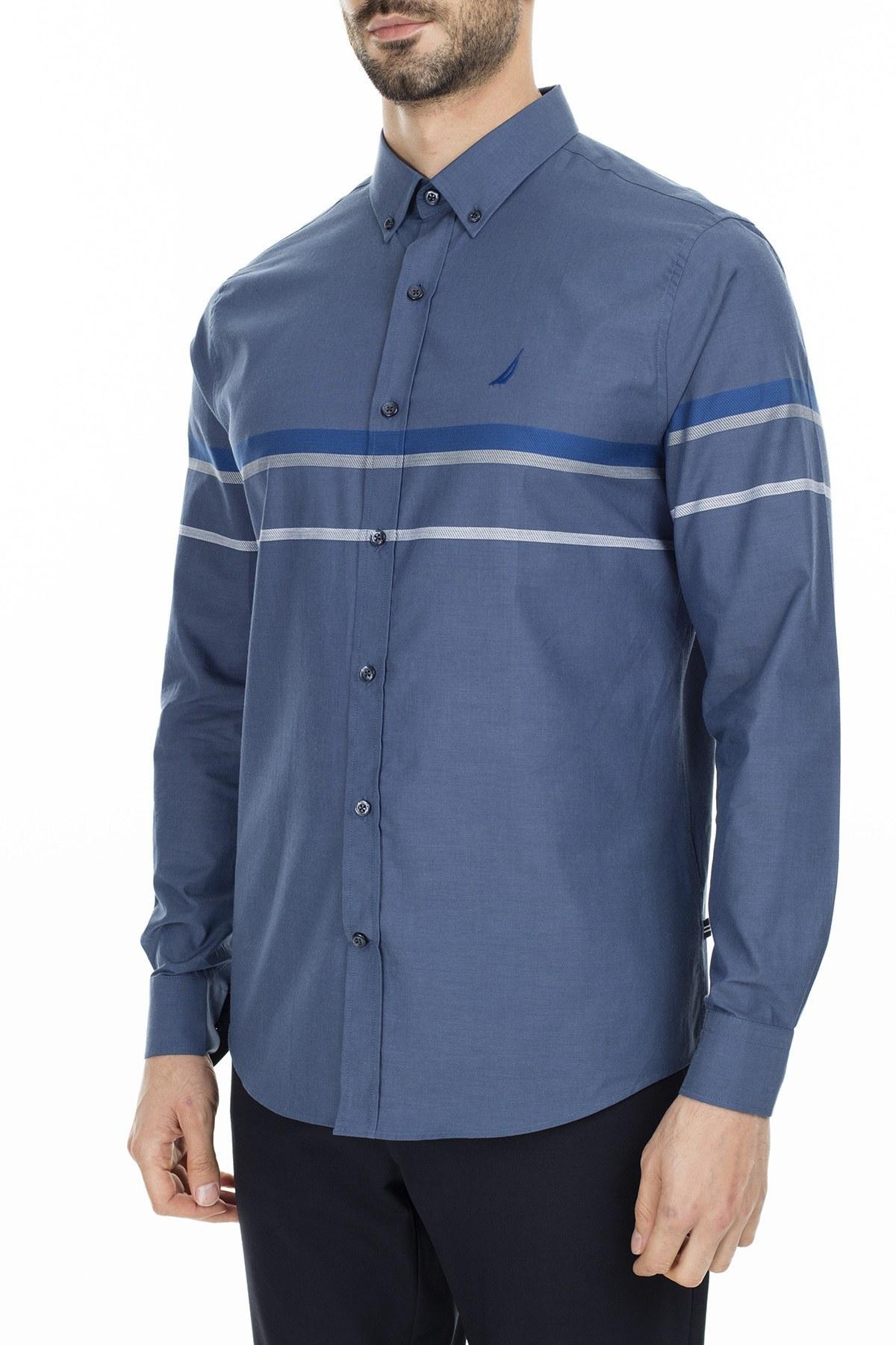 Nautica Slim Fit Erkek Gömlek W93035T 4ES LACİVERT