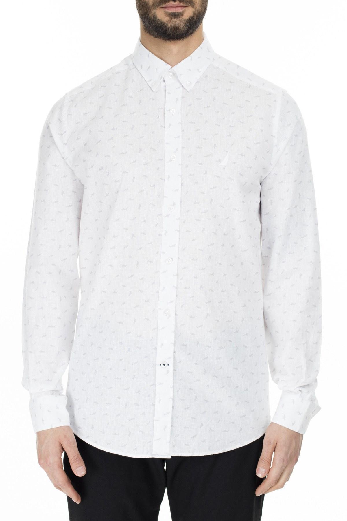 Nautica Slim Fit Erkek Gömlek WR0140T 1BW BEYAZ