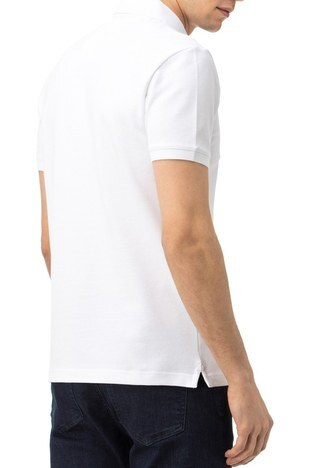 Nautica - Nautica Slim Fit Pamuklu Düğmeli T Shirt Erkek Polo K15652T 1BW BEYAZ (1)