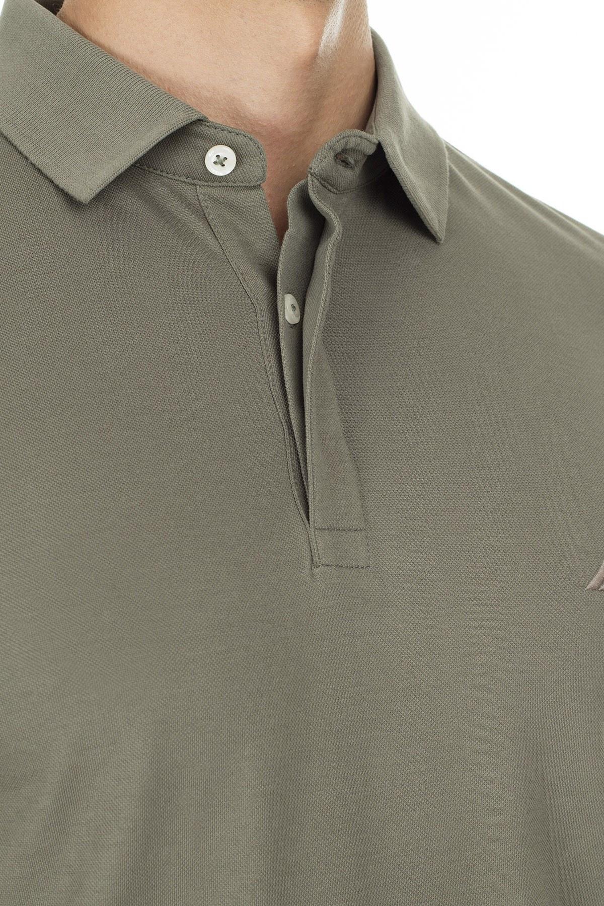 Nautica Slim Fit T Shirt Erkek Polo K01001T 3BP YEŞİL