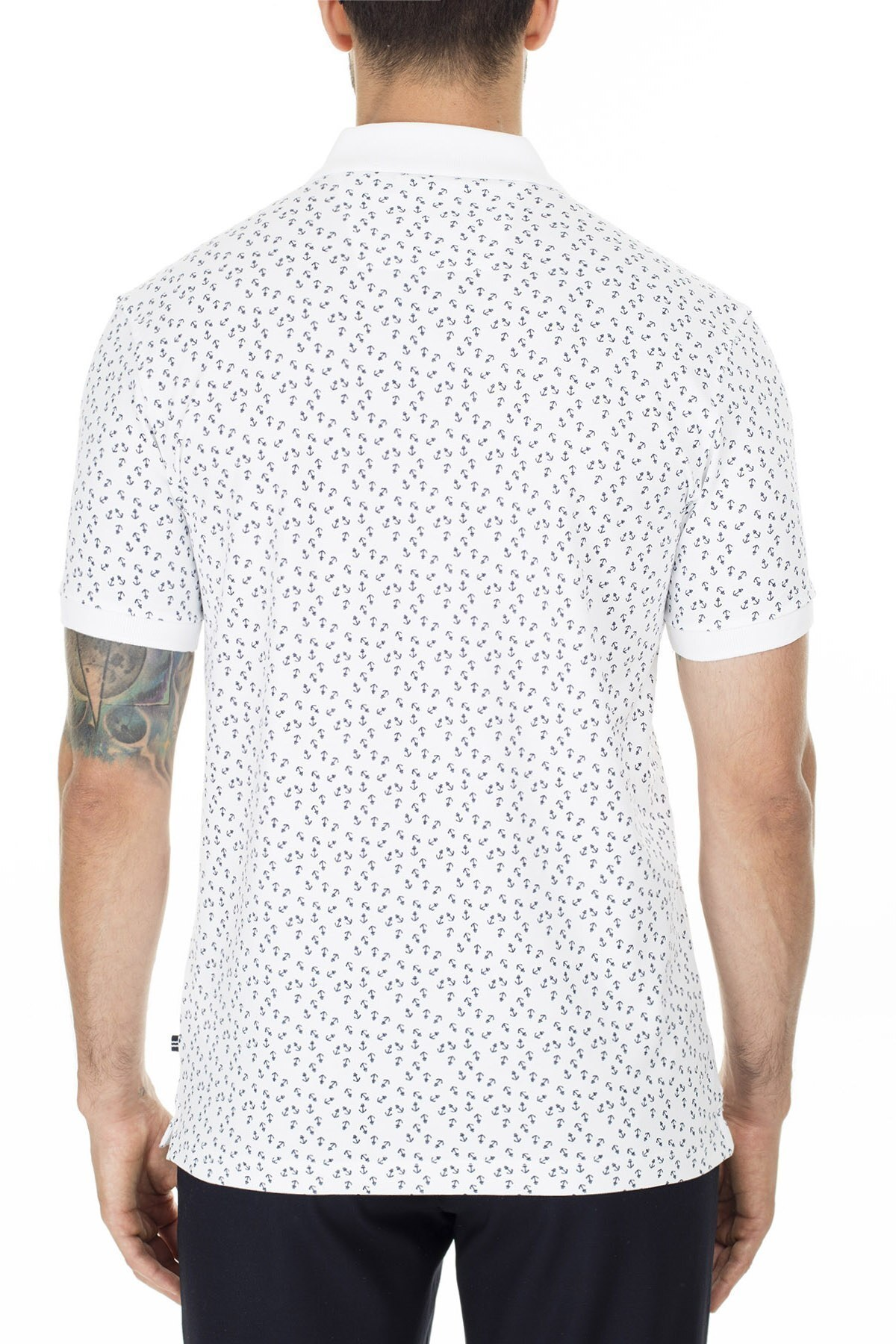 Nautica Slim Fit T Shirt Erkek Polo K01021T 1BW BEYAZ