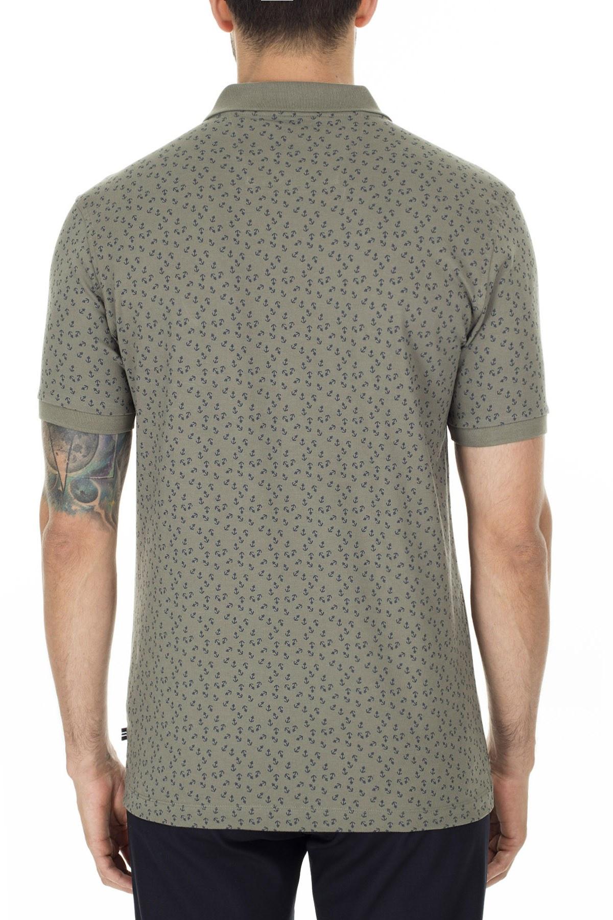 Nautica Slim Fit T Shirt Erkek Polo K01021T 3BP YEŞİL