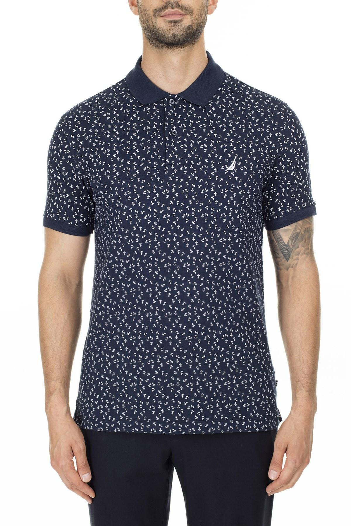 Nautica Slim Fit T Shirt Erkek Polo K01021T 4NV LACİVERT