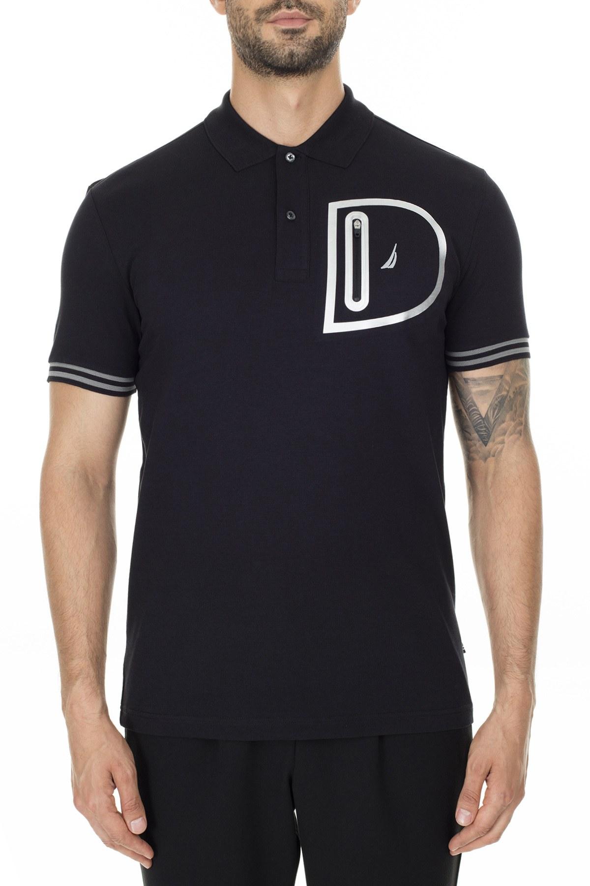 Nautica Slim Fit T Shirt Erkek Polo K01036T 0TB SİYAH