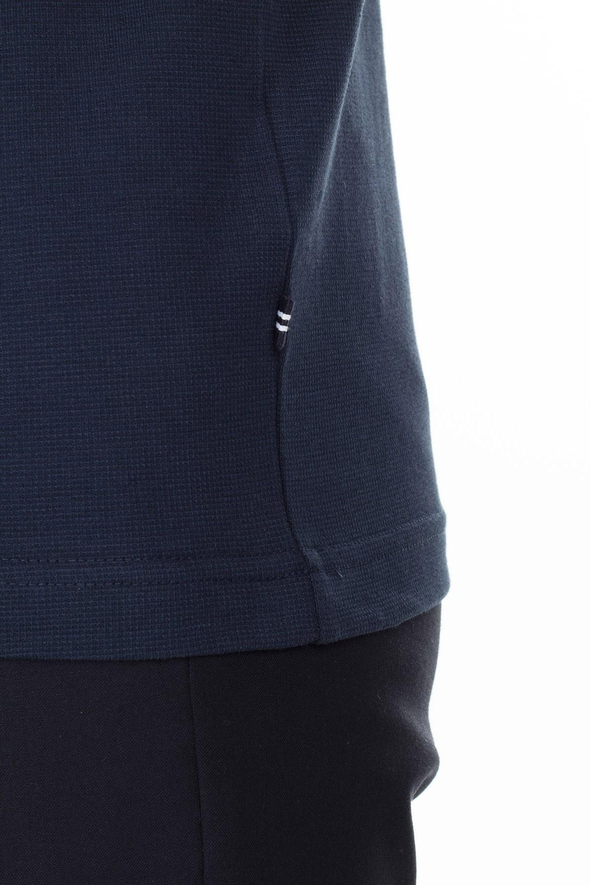 Nautica Slim Fit T Shirt Erkek Polo K01036T 4NV LACİVERT