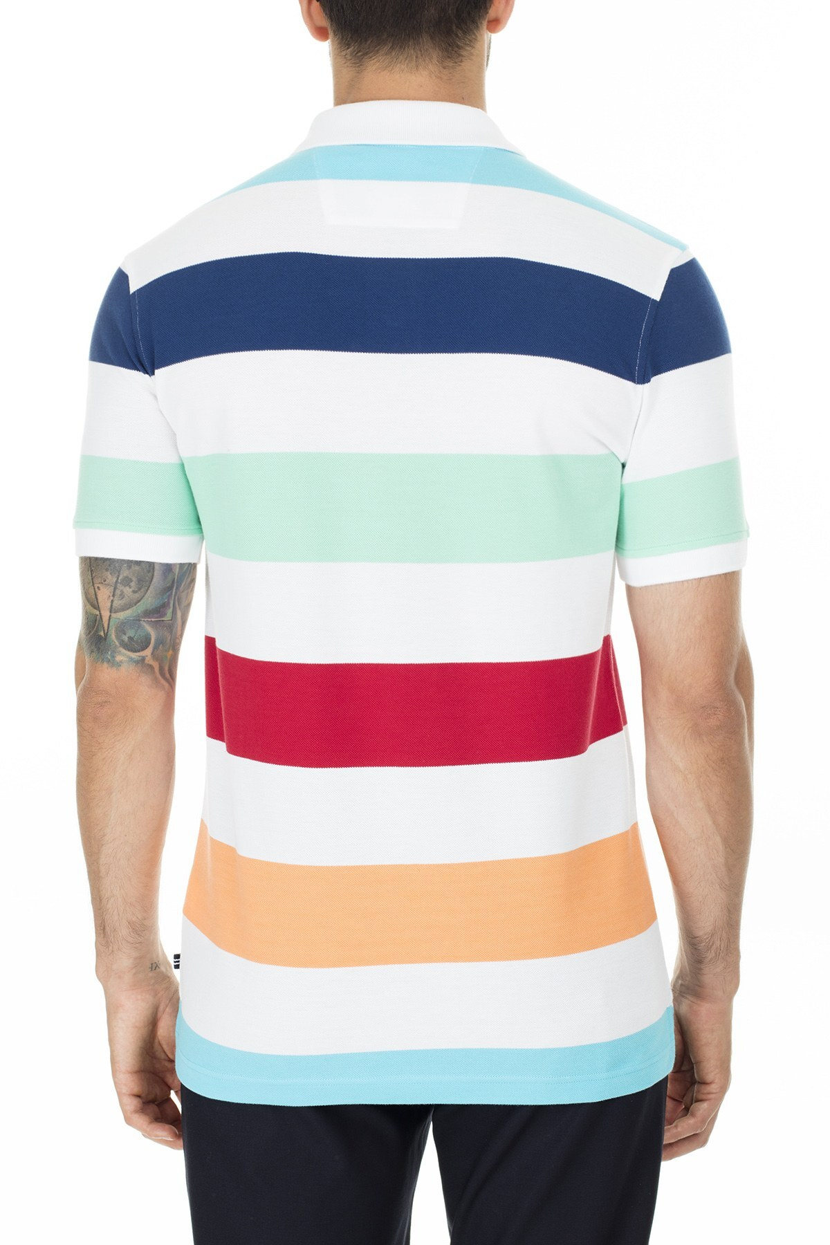 Nautica Slim Fit T Shirt Erkek Polo K01914T 1BW BEYAZ