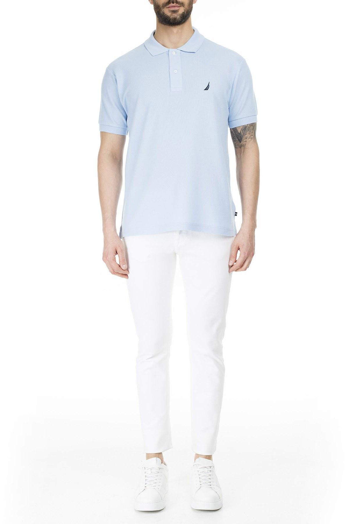Nautica Slim Fit Yaka T Shirt Erkek Polo K41000T 4FS MAVİ