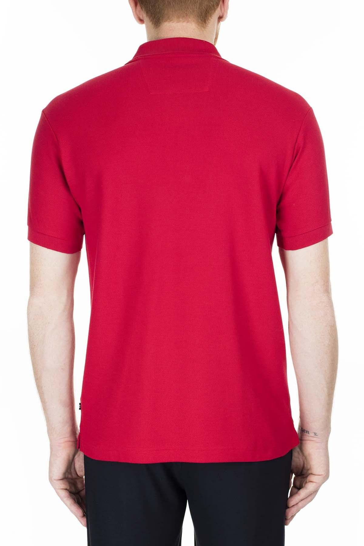 Nautica Slim Fit Yaka T Shirt Erkek Polo K41000T 6NR KIRMIZI