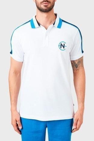 Nautica - Nautica % 100 Pamuklu T Shirt Erkek Polo K15616T 1BW BEYAZ