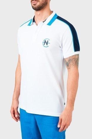 Nautica - Nautica % 100 Pamuklu T Shirt Erkek Polo K15616T 1BW BEYAZ (1)