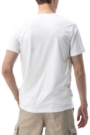 Nautica - Nautica V Yaka Erkek T Shirt V01001T 1BW BEYAZ (1)