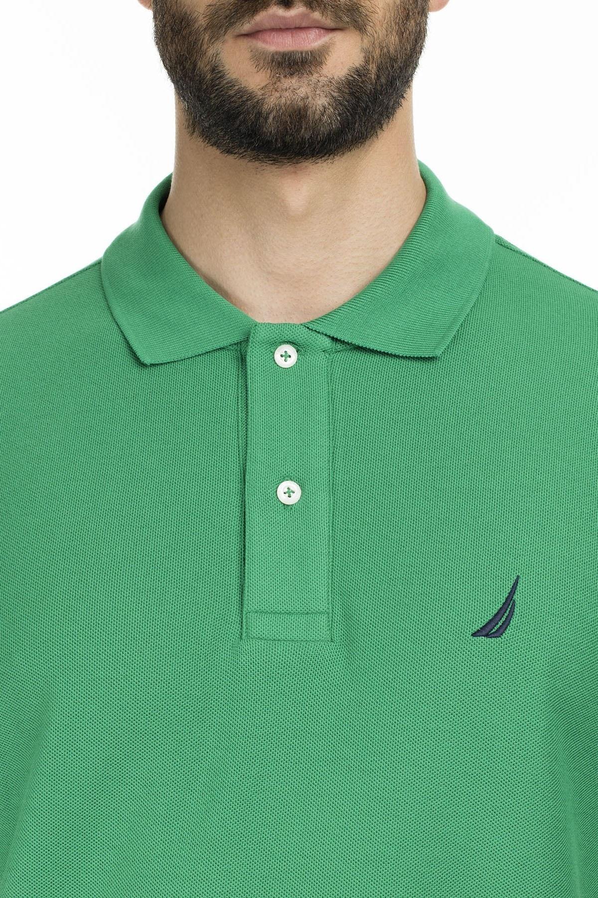Nautica Yaka T Shirt Erkek Polo K41000T 30T YEŞİL