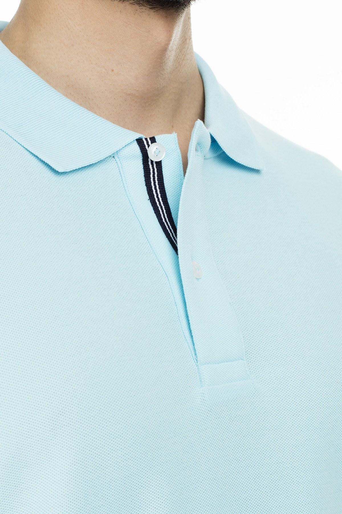 Nautica Yaka T Shirt Erkek Polo K41000T 4IV MAVİ
