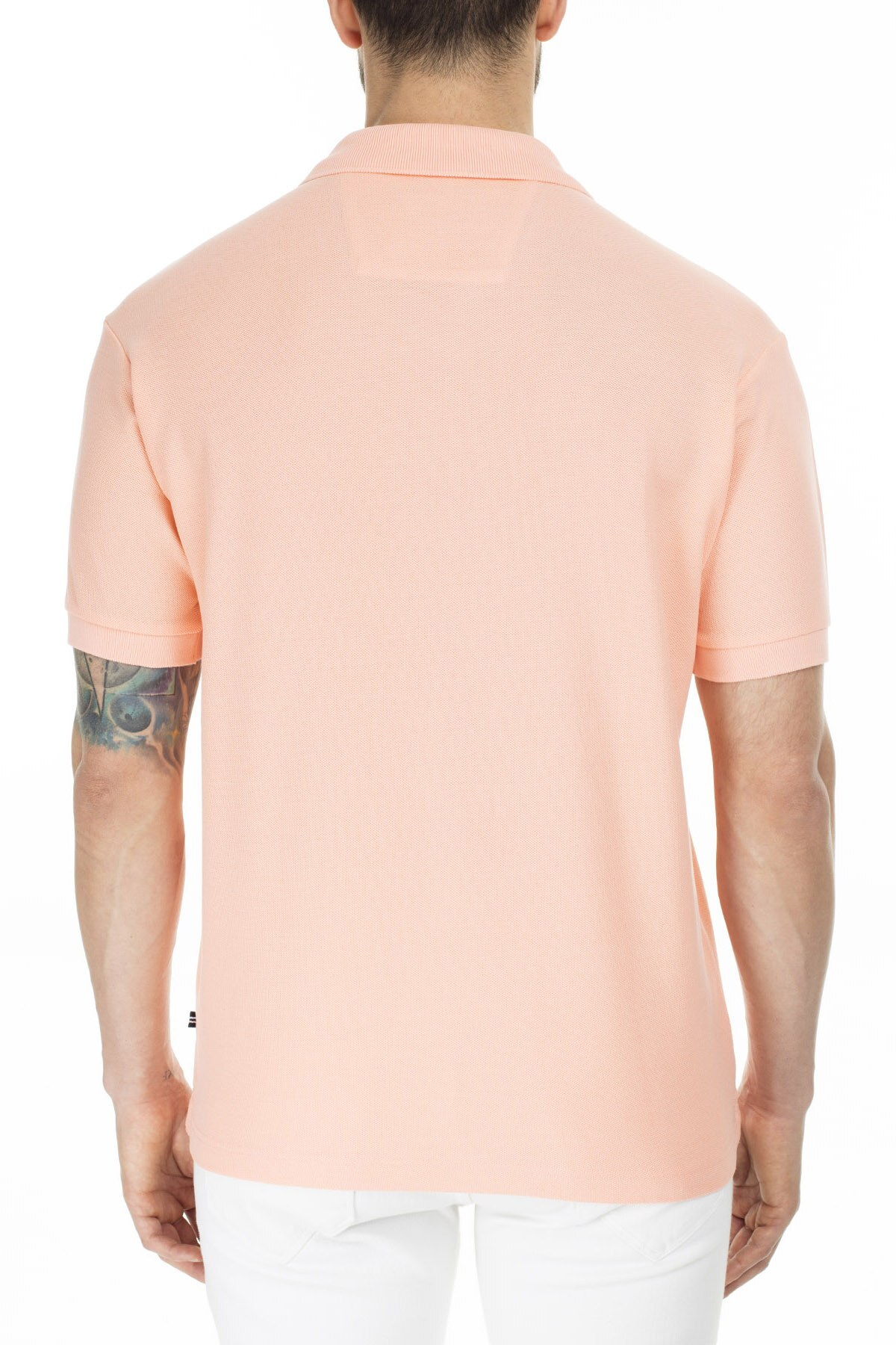 Nautica Yaka T Shirt Erkek Polo K41000T 6PV PEMBE
