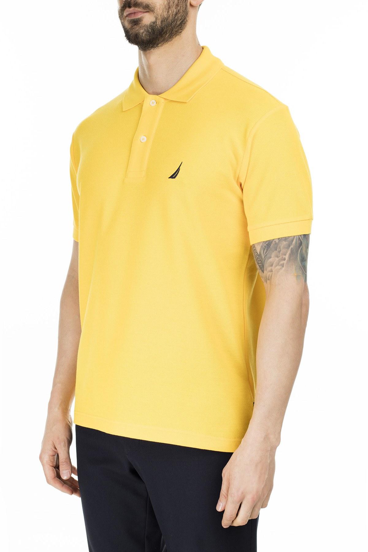 Nautica Yaka T Shirt Erkek Polo K41000T 70B SARI