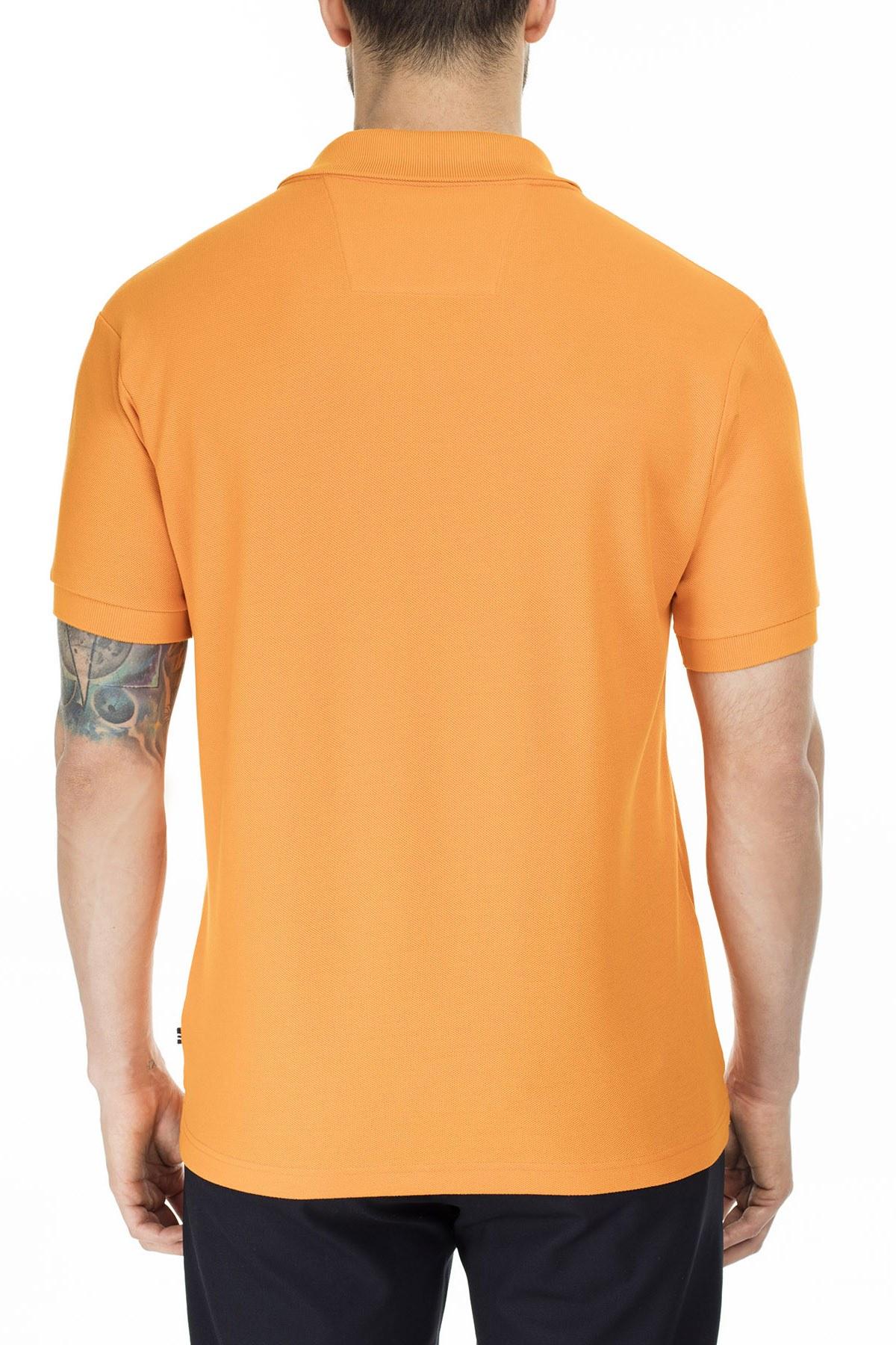 Nautica Yaka T Shirt Erkek Polo K41000T 8EA TURUNCU