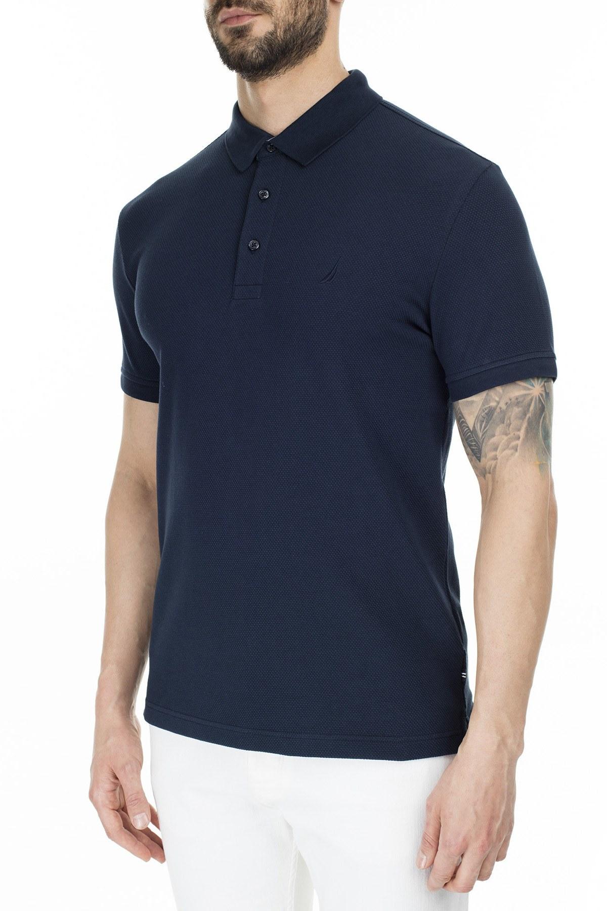 Nautica Yaka T Shirt Erkek Polo K91036T 4NV LACİVERT