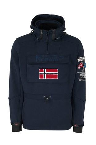 Norway Geographical - Norway Geographical Kapüşonlu Outdoor Erkek Mont TERREAUX LACİVERT