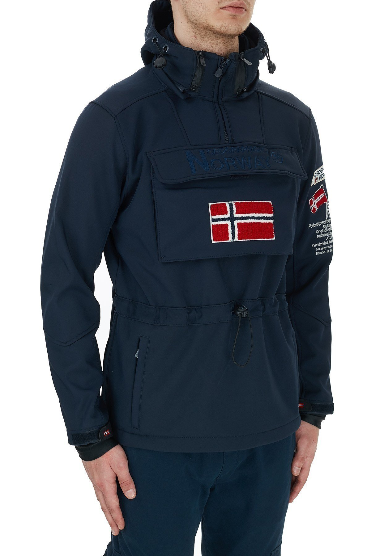 Norway Geographical Kapüşonlu Outdoor Erkek Mont TERREAUX LACİVERT