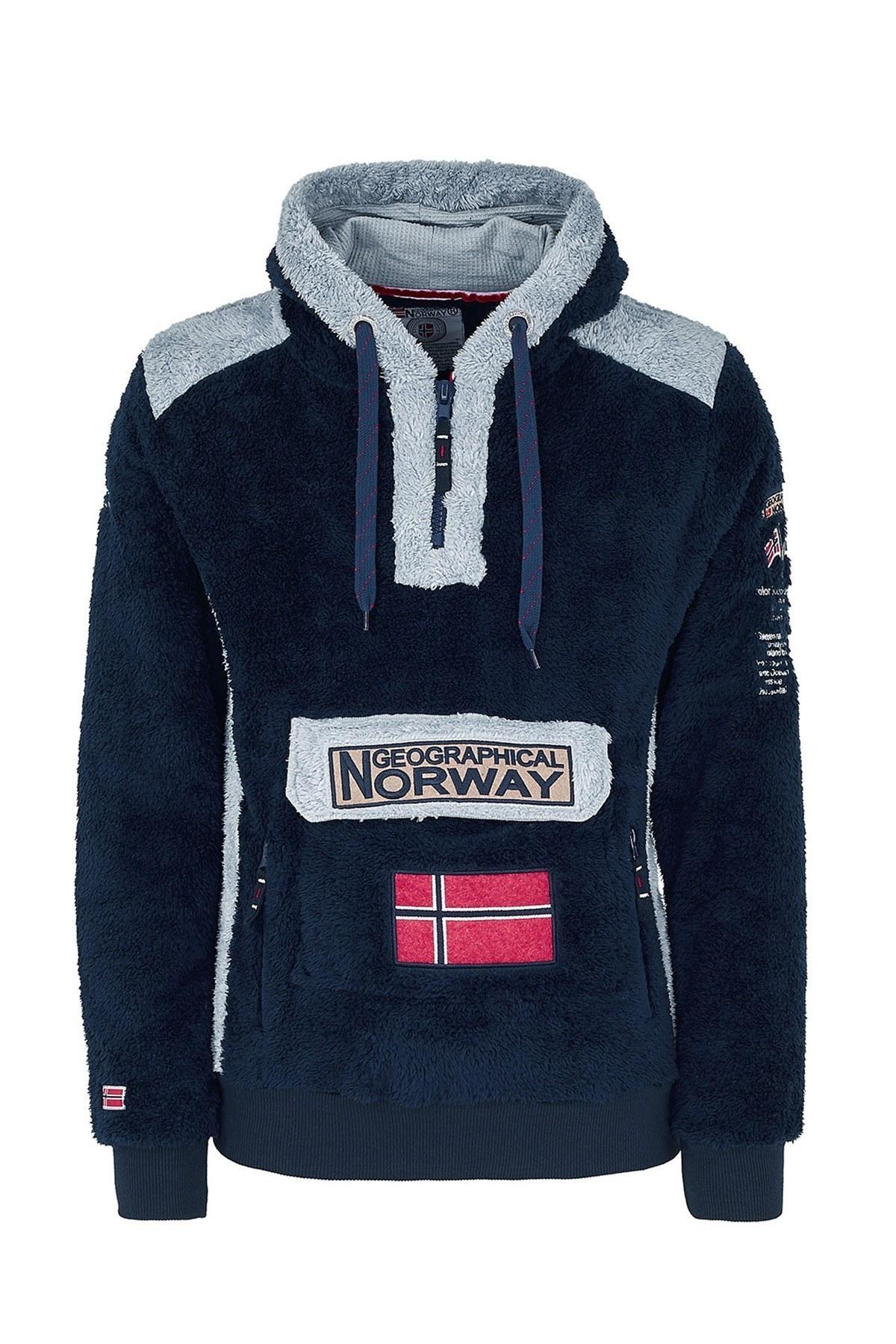 Norway Geographical Kapüşonlu Outdoor Polar Erkek Sweat GYMCLASS E LACİVERT