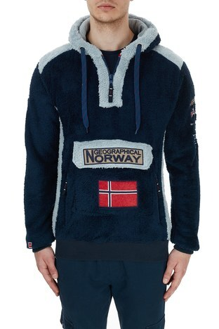 Norway Geographical - Norway Geographical Kapüşonlu Outdoor Polar Erkek Sweat GYMCLASS E LACİVERT (1)