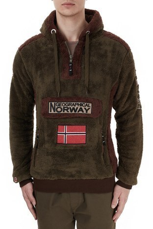 Norway Geographical - Norway Geographical Kapüşonlu Outdoor Polar Erkek Sweat GYMCLASS E HAKİ (1)