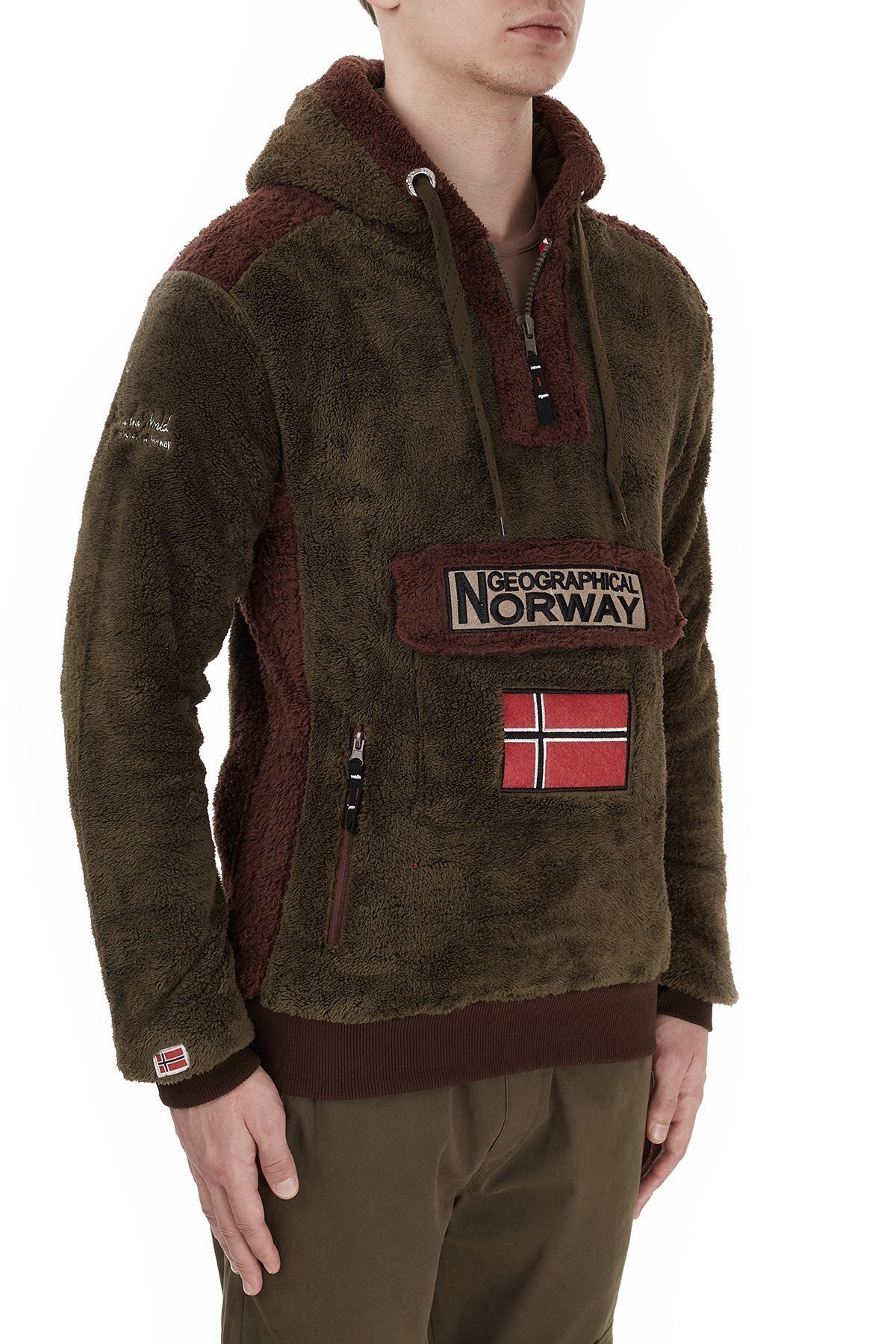 Norway Geographical Kapüşonlu Outdoor Polar Erkek Sweat GYMCLASS E HAKİ