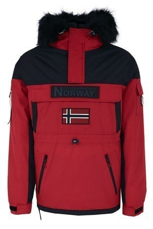Norway Geographical - Norway Geographical Kapüşonlu Soğuğa Dayanıklı Outdoor Erkek Parka BRUNO N KIRMIZI