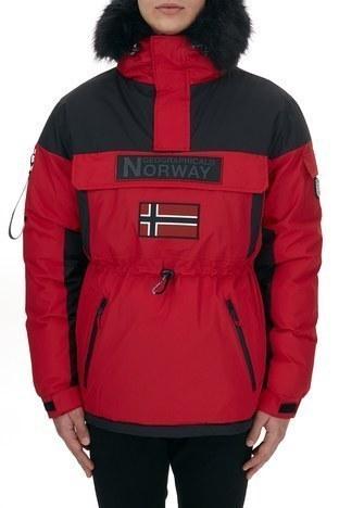 Norway Geographical - Norway Geographical Kapüşonlu Soğuğa Dayanıklı Outdoor Erkek Parka BRUNO N KIRMIZI (1)