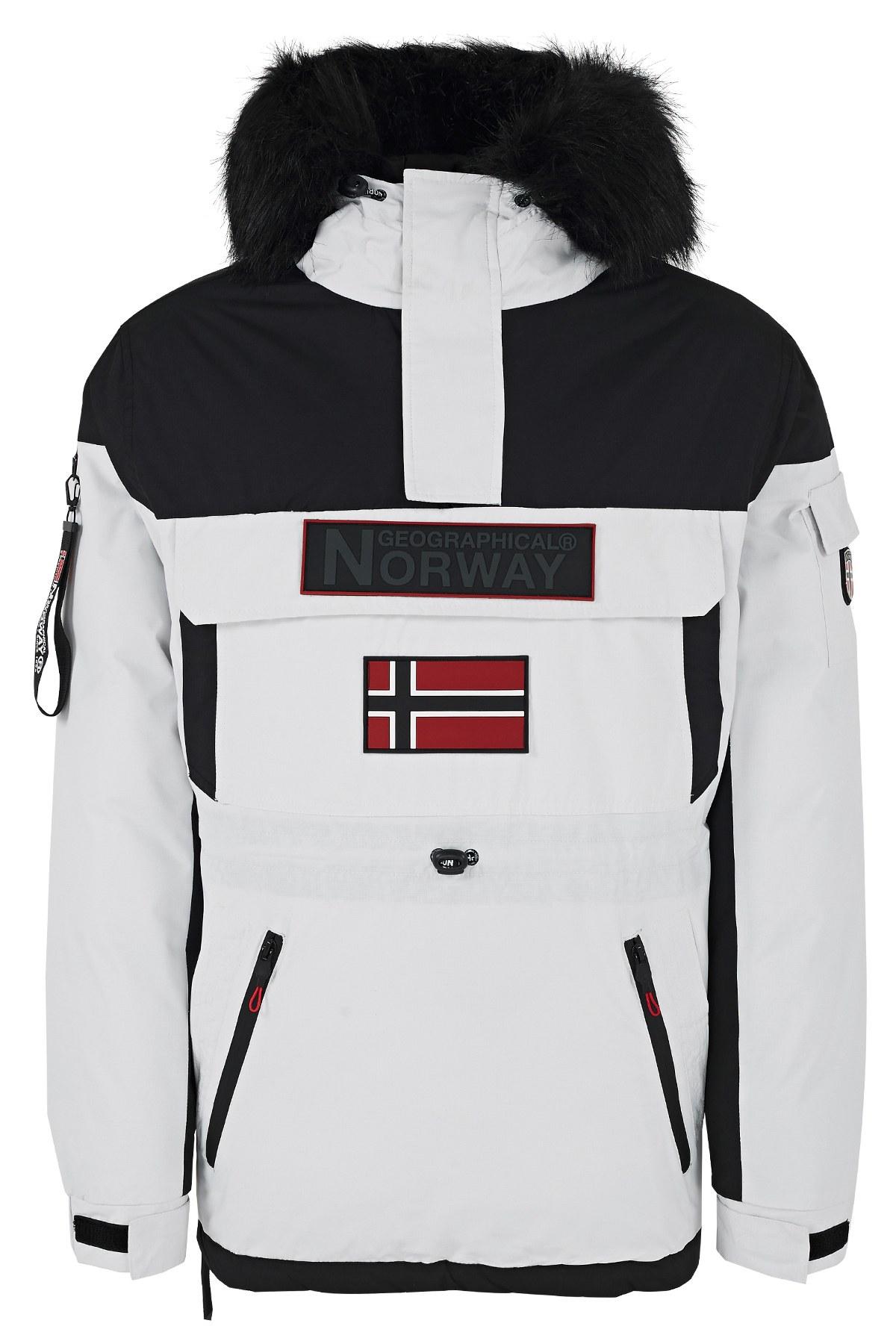 Norway Geographical Kapüşonlu Soğuğa Dayanıklı Outdoor Erkek Parka BRUNO N BEYAZ