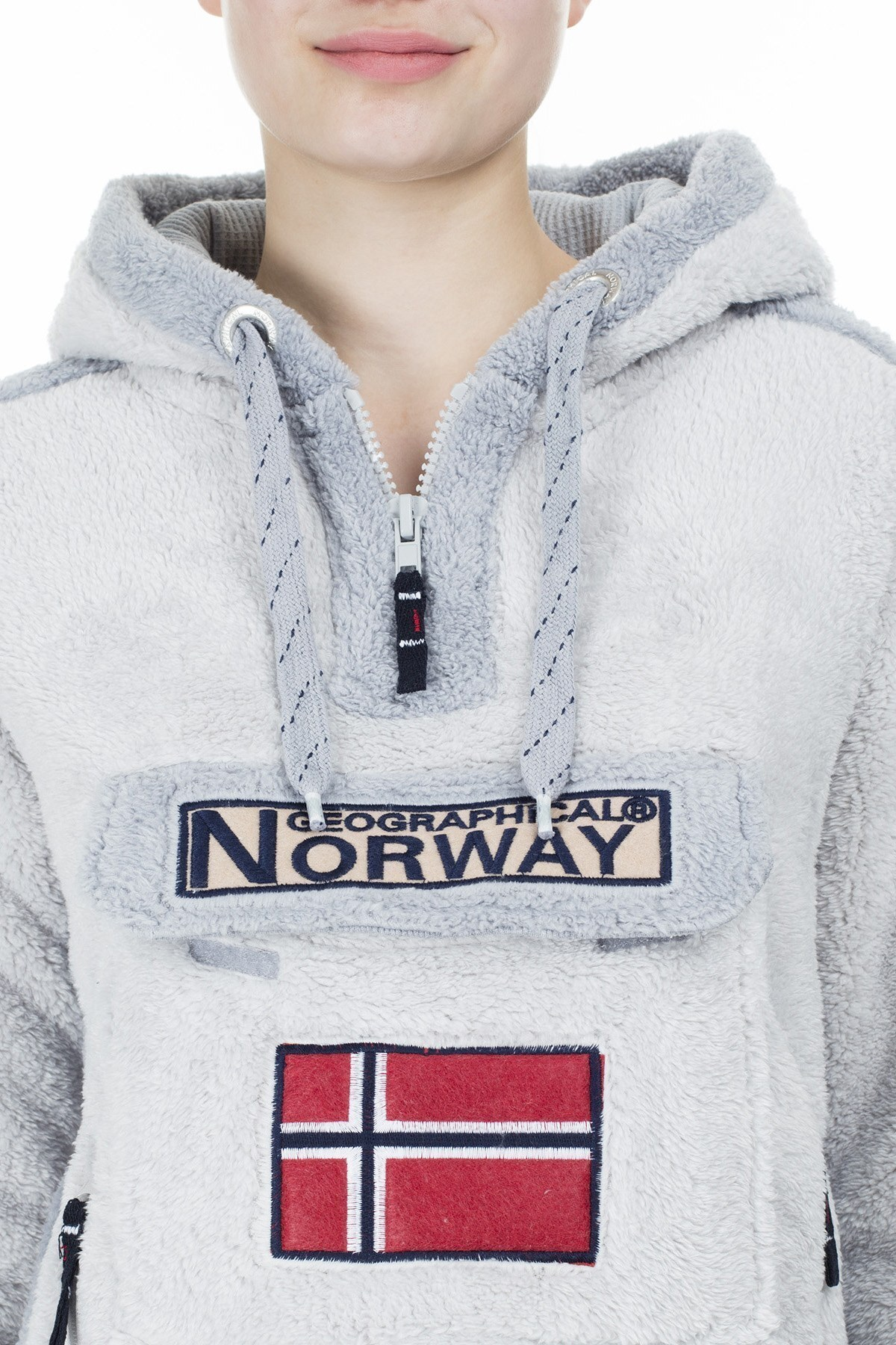 Norway Geographical Outdoor Bayan Sweat GYMCLASS GRİ