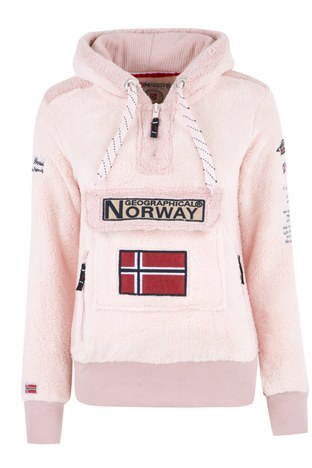 Norway Geographical - Norway Geographical Outdoor Bayan Sweat GYMCLASS PEMBE
