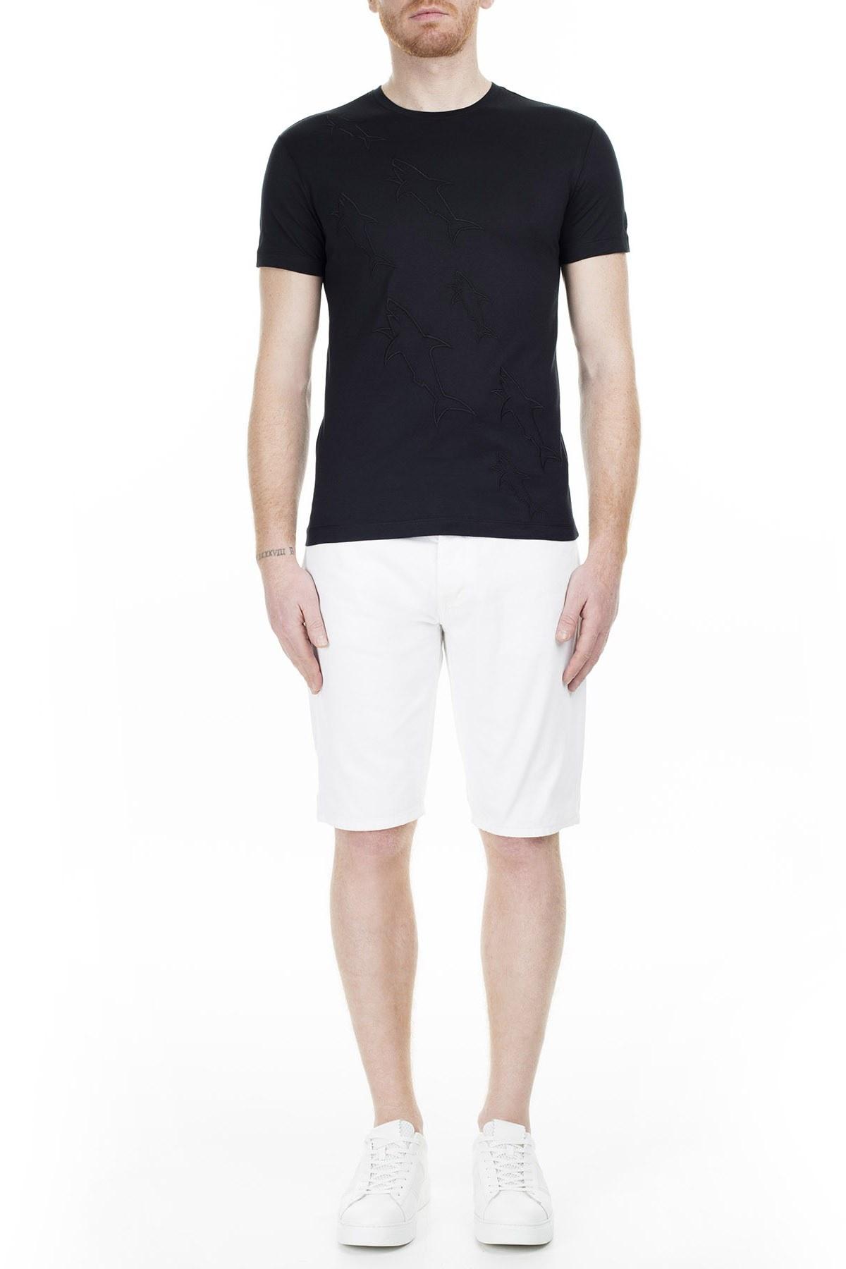 Paul & Shark Regular Fit Erkek T Shirt E18P1035SF 011 SİYAH