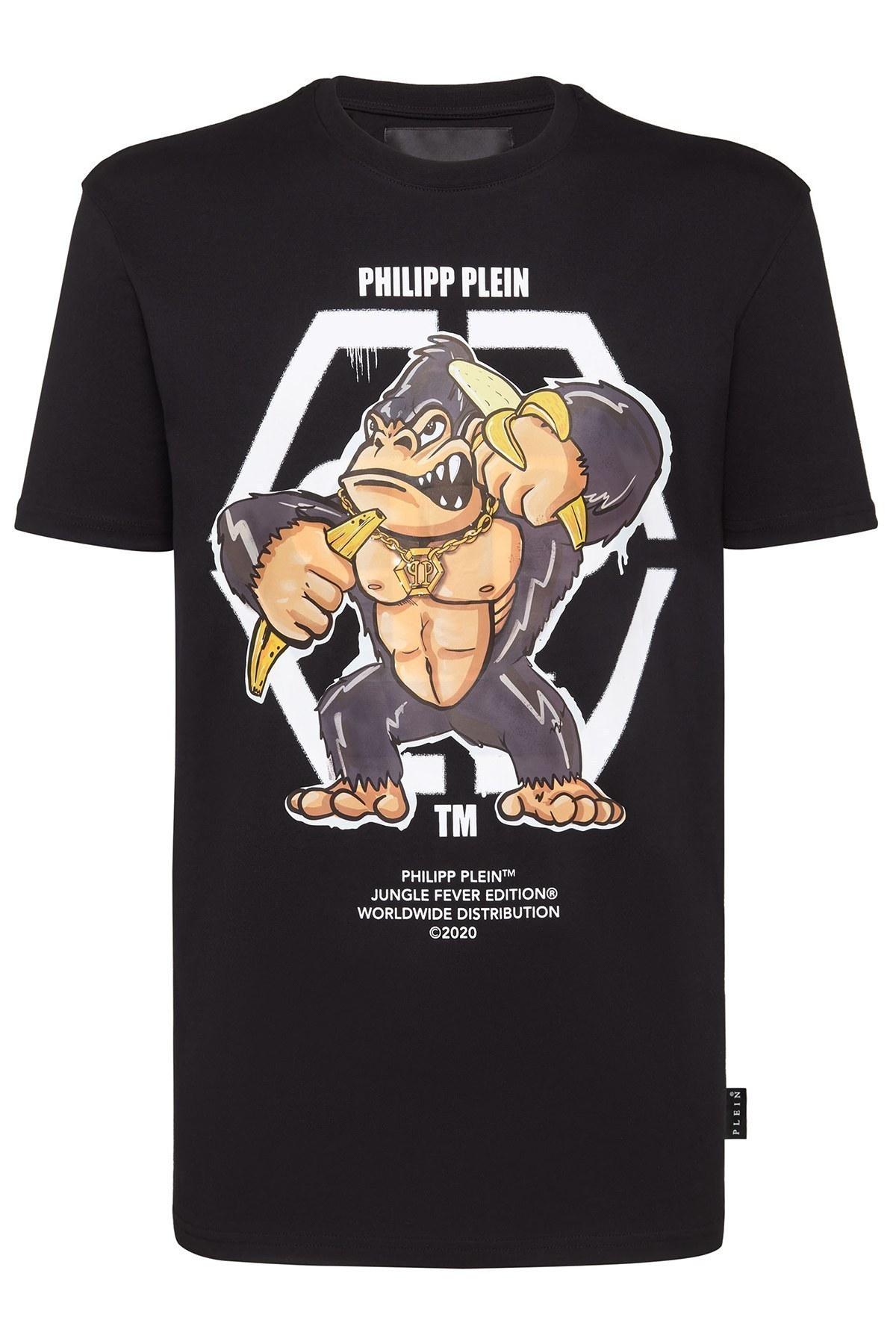 Philipp Plein Erkek T Shirt F20C MTK4555 PJY002N 02 SİYAH