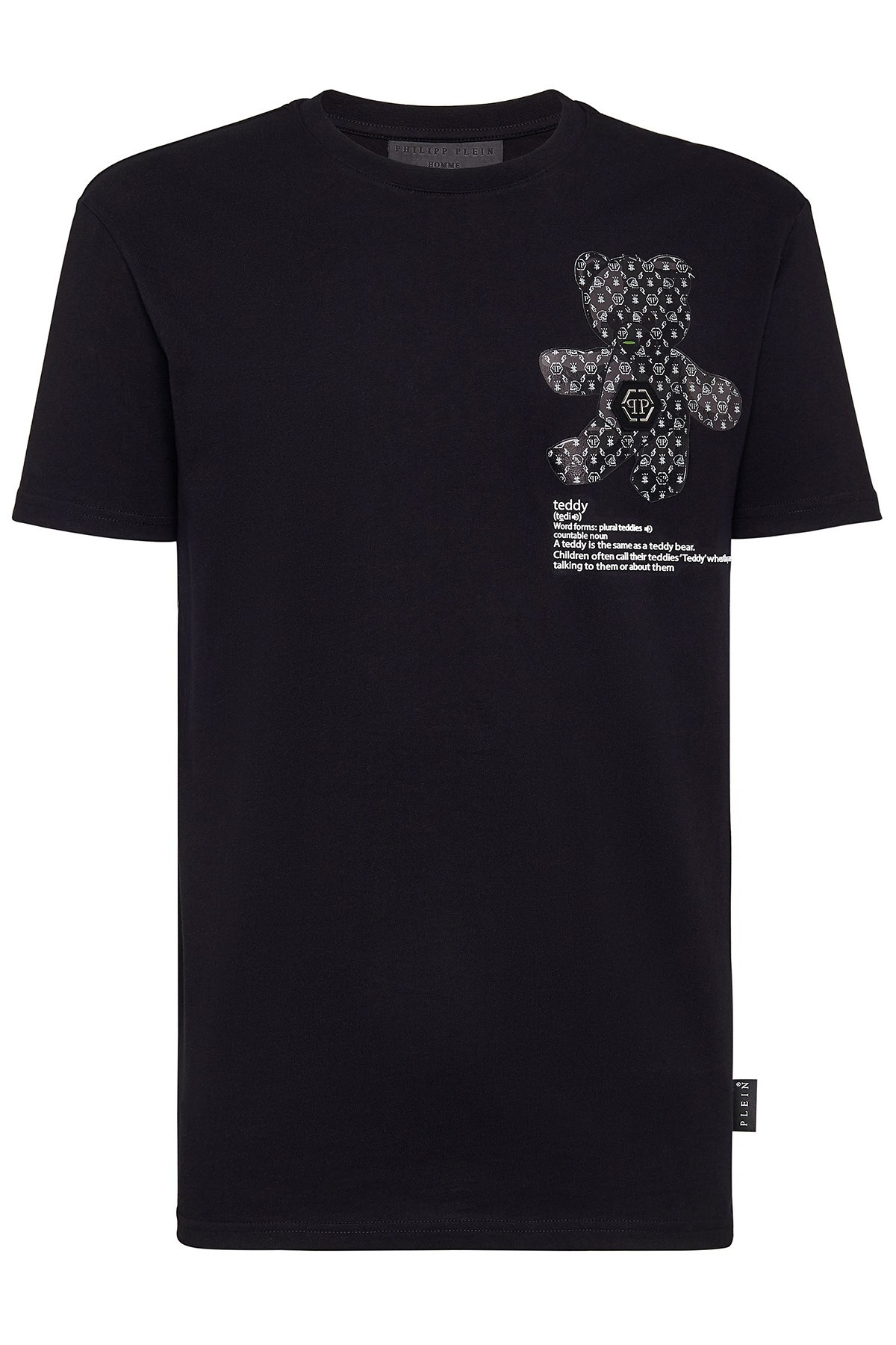 Philipp Plein Baskılı % 100 Pamuklu Erkek T Shirt F20C MTK4583 PJY002N 02 SİYAH