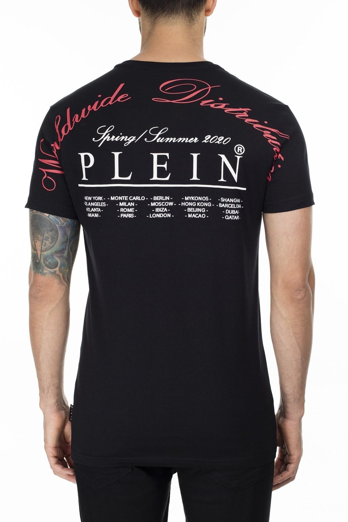 Philipp Plein Erkek T Shirt P20C MTK4253 PJY002N 0213 SİYAH